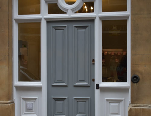 Oriel College Oxford – new front door to office entrance in King Edward Street