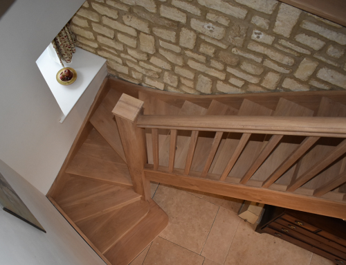 Custom-made staircase for a cottage in Deddington, Oxfordshire