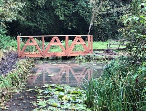 Handcrafted Bridge at Country House